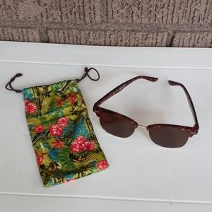 American Eagle Tortoise Shell Sunglasses With Case